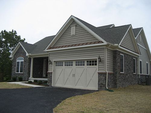 Image Result For Vinyl Siding And Stone Combination Brick House