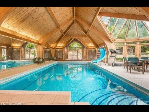 Wilfried Zaha's 3 million euro house- Crystal Palace Logo in swimming pool