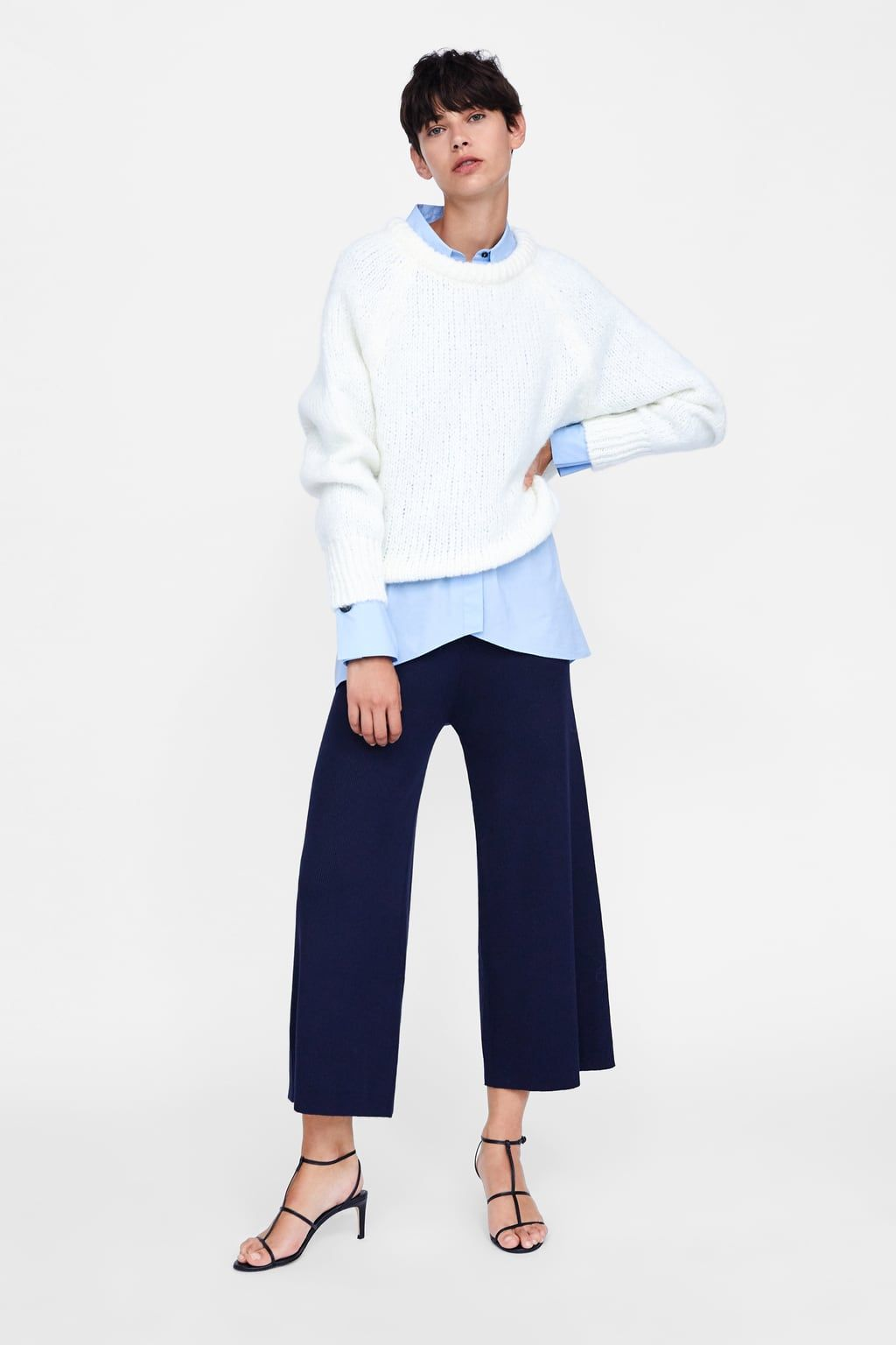 dcdd09f0 Image 1 of RIBBED KNIT CULOTTES from Zara