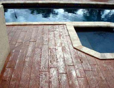Pool Decks Projects Stamped Concrete Concrete Driveways