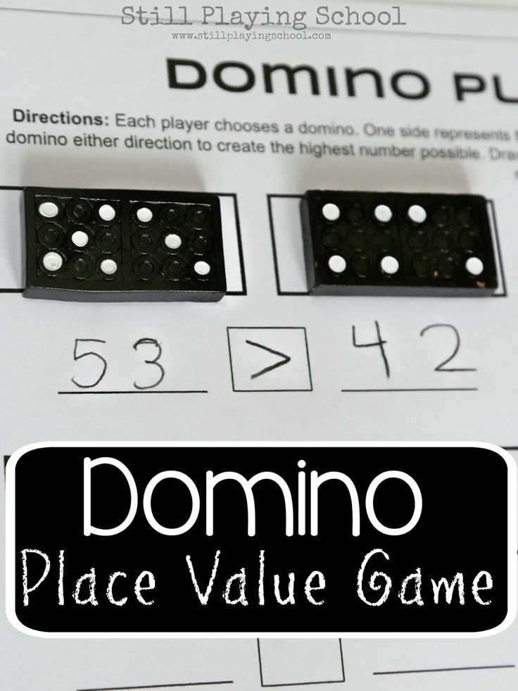 Dominoes Place Value Game for Kids   Math, Gaming and Activities