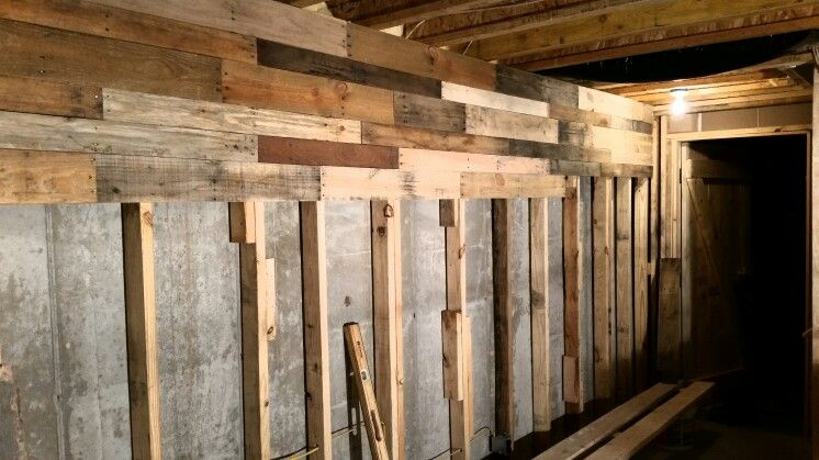 What we specialize in, is making man caves from reclaimed wood.