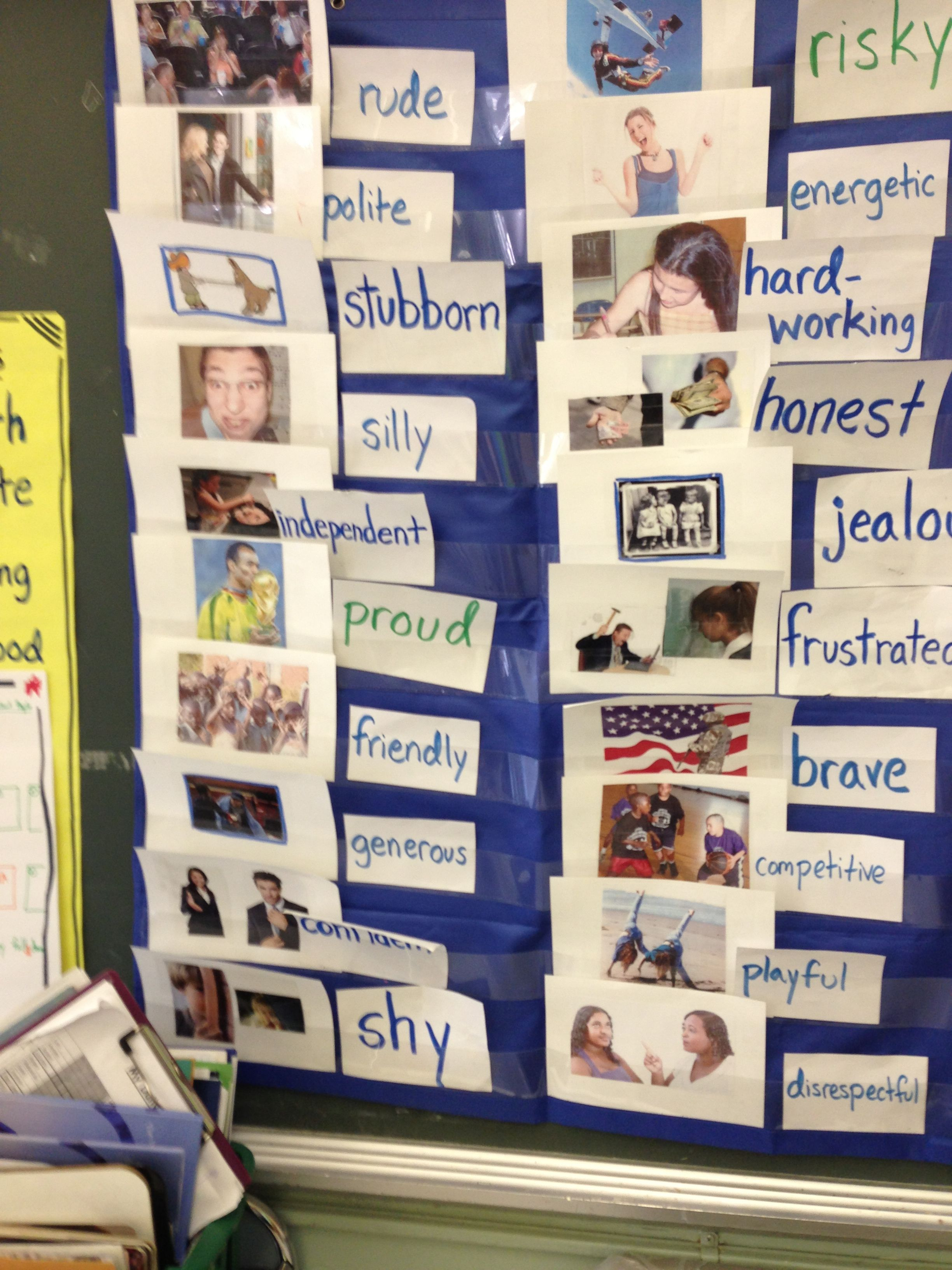 Character Trait Picture Flashcards