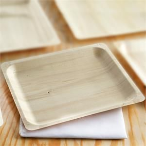 12 Pack Stylish Sustainable Birchwood Rectangle Disposable Plate For Wedding Party Event Dinnerware -10.5 x8.5  & 12 Pack Stylish Sustainable Birchwood Rectangle Disposable Plate For ...