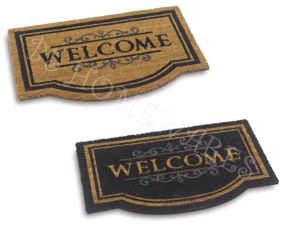 Large Door Mat Welcome Coir Floor Entrance Indoor Outdoor Front Doormat  50X75 Cm