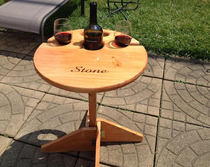 Photo of Outdoor Wine Table / Folding Wine Table / Vin …