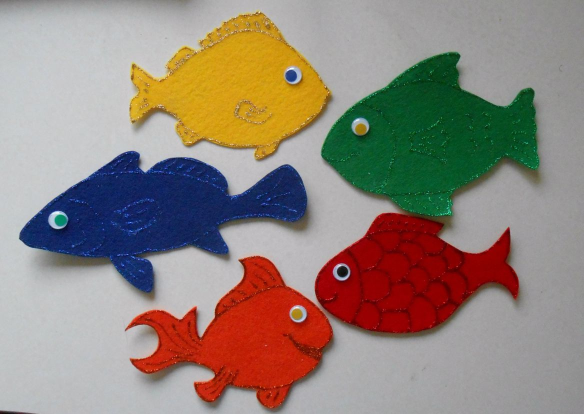 Five Little Fish - Template and Rhyme | Beach Week ideas | Pinterest ...