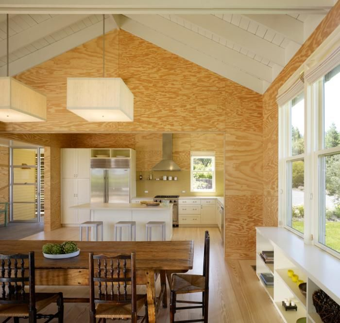 The Architect Is In A Modern Cabin Natural Light And Plywood Included Remodelista Tiny House Interior Design Plywood Interior Plywood Walls