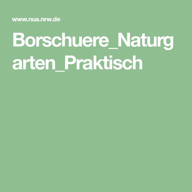 Borschuere Naturgarten Praktisch Naturgarten Praktisch Garten
