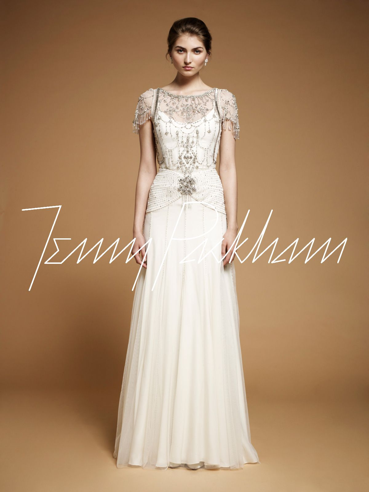 Vintage style wedding gown damasks jenny packham and wedding dress