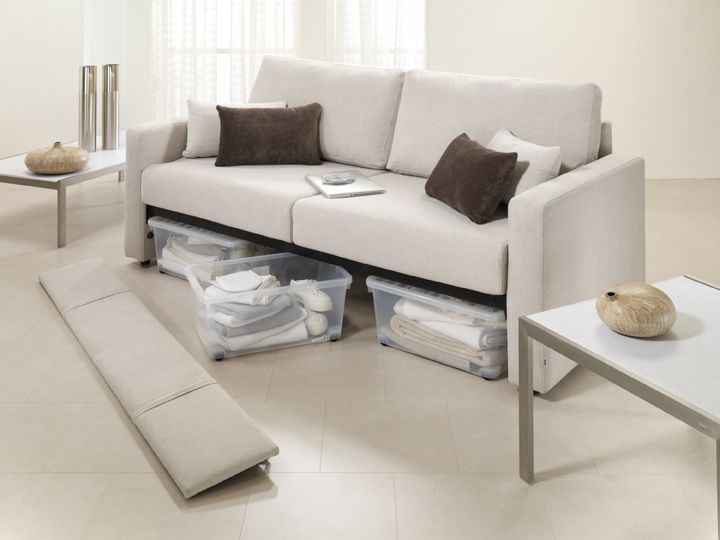 Simple Sofa Bed With Storage Underneath