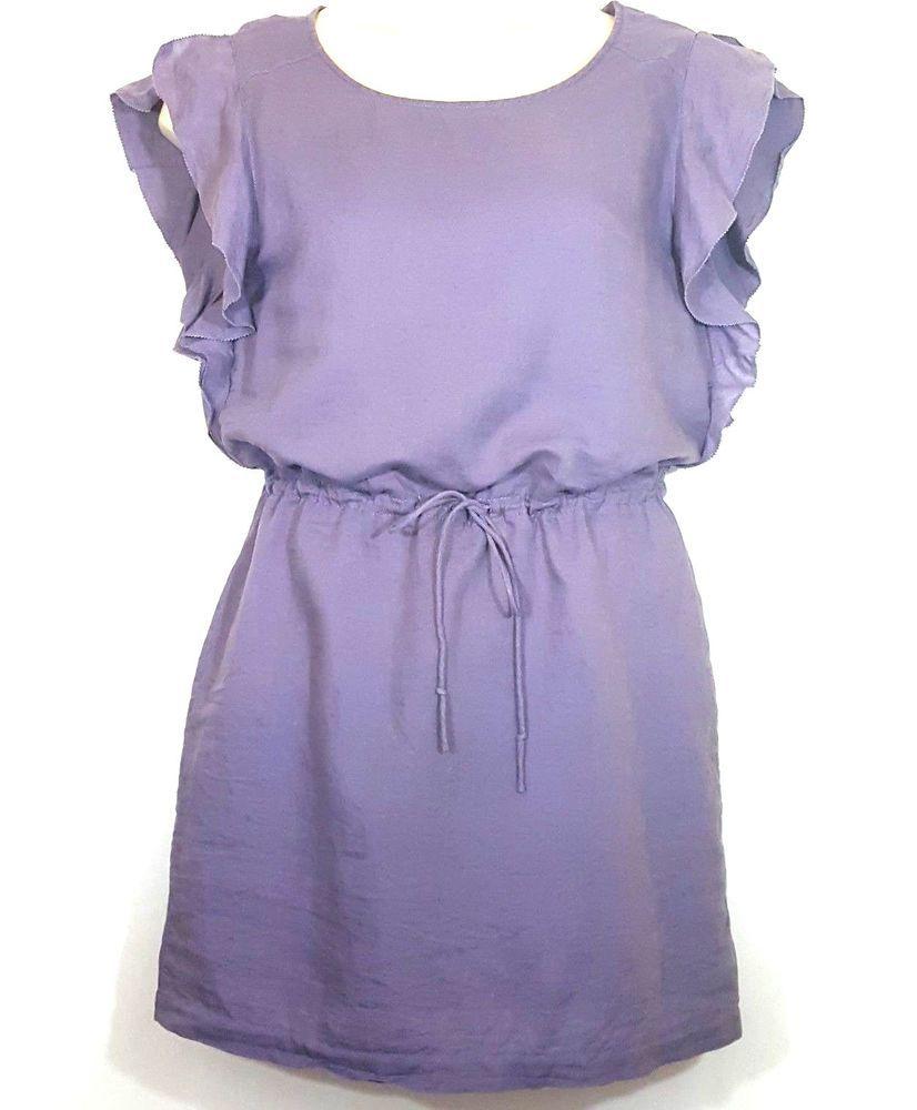 J Crew RN77388 Women\'s Slip On Blouson Dress Lilac Purple Small