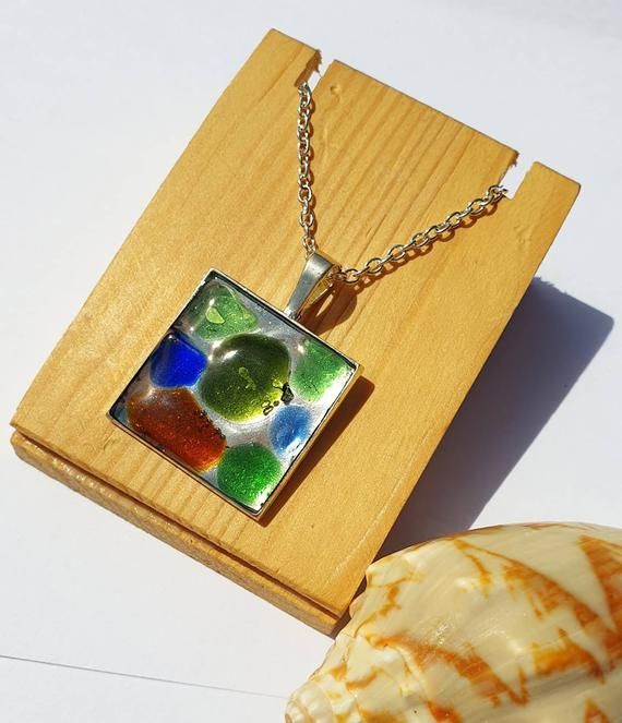 Irish Sea Glass Pendant #irishsea Irish Sea Glass Pendant #irishsea