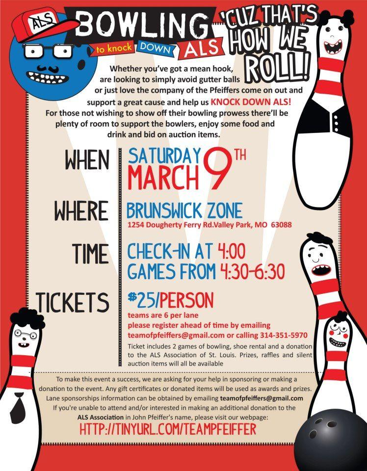 Bowling Fundraiser flyer design Fundraising ideas – Bowling Flyer Template