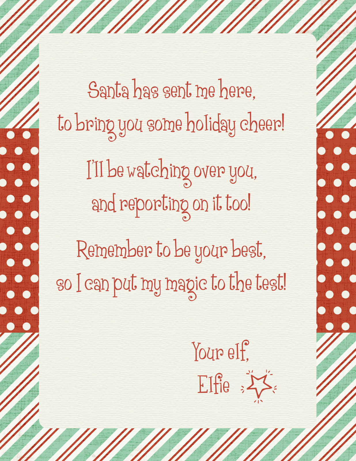 Elf on the Shelf Arrival Letter Holidays Pinterest Inspiration