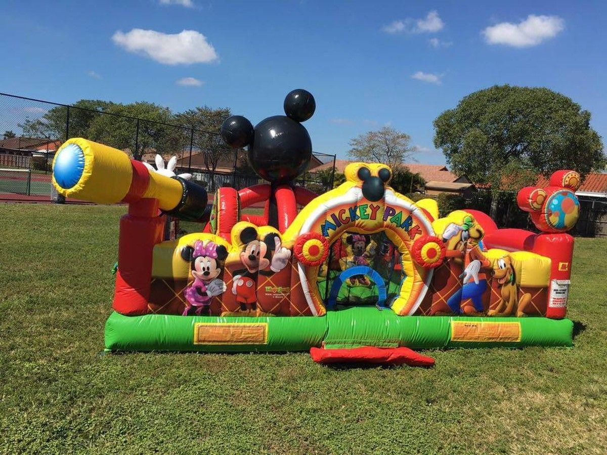 mickey mouse toddler bounce house bounce house with slide