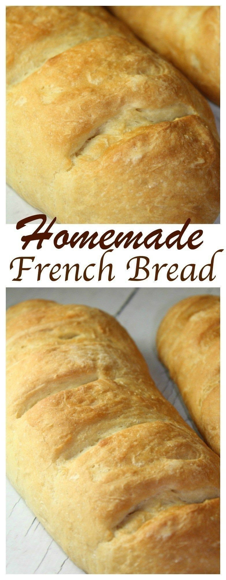 Easy Homemade French Bread | Homemade french bread, French ...