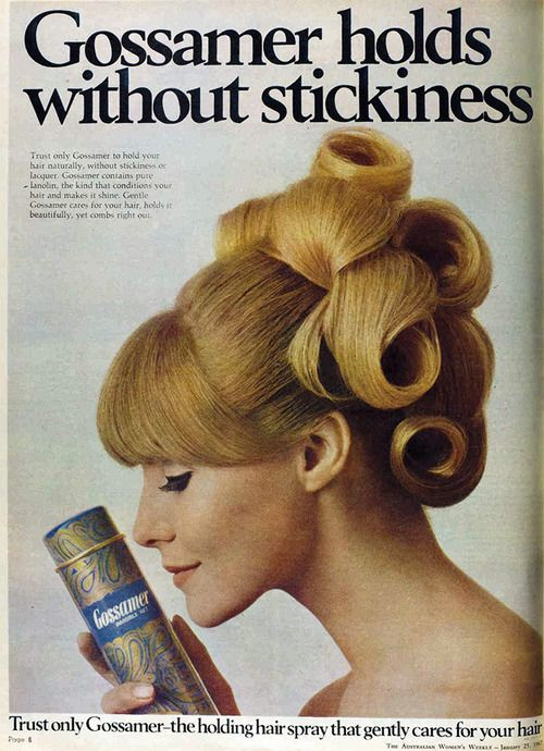 1967 Gossamer Hair Spray Advertisement How Did They Manage These