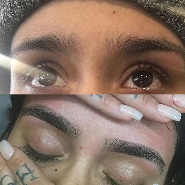 #Repost @kehlani lmfao before you meet the IyanlaFixMyLife of Eyebrows and after. @ibrowsbyeb this was sorcery, the dark days r over.