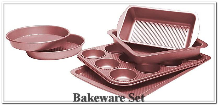 Bakeware Set Toptier 6 Piece Nonstick Baking Pan Sets With Cookie