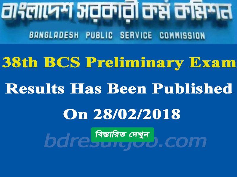 Public Service Commission (PSC) 38th BCS Preliminary results has