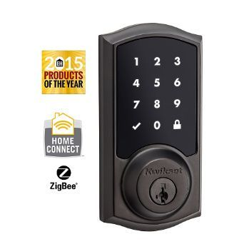 Kwikset®, the leader in residential security, introduces the SmartCode™ 916 Touchscreen Electronic Deadbolt with HomeConnect™ technology! Expanding your security system solution with a Kwikset SmartCode 916 Touchscreen deadbolt with Home Connect technology will allow the lock to talk wirelessly to security and home automation systems via ZigBee