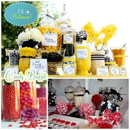 candy buffet - love this option instead of favours