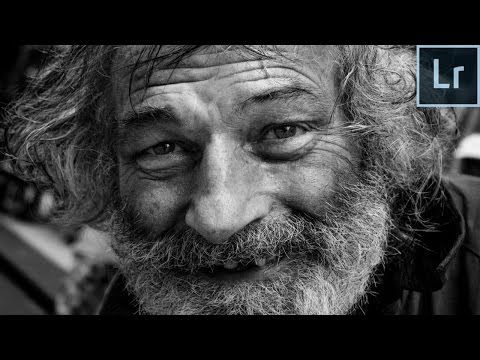 Lightroom 6 cc 2015 black and white portrait editing retouching tutorial from start to