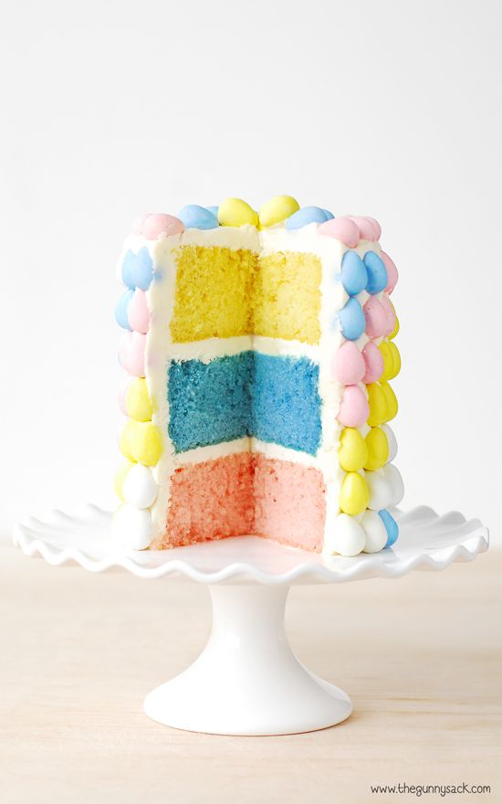 Layer Cake Easter Dessert #celebrateveryday