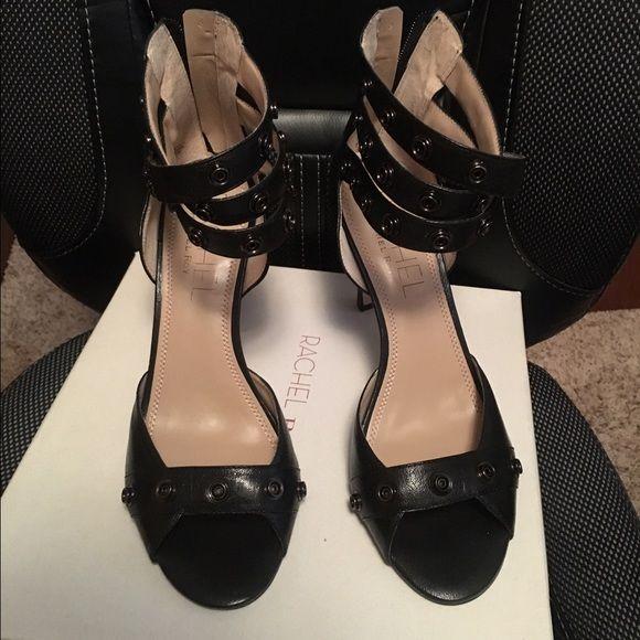 Rachel Roy zipper back heels Brand new never worn Rachel Roy black back zipper heels RACHEL Rachel Roy Shoes Heels