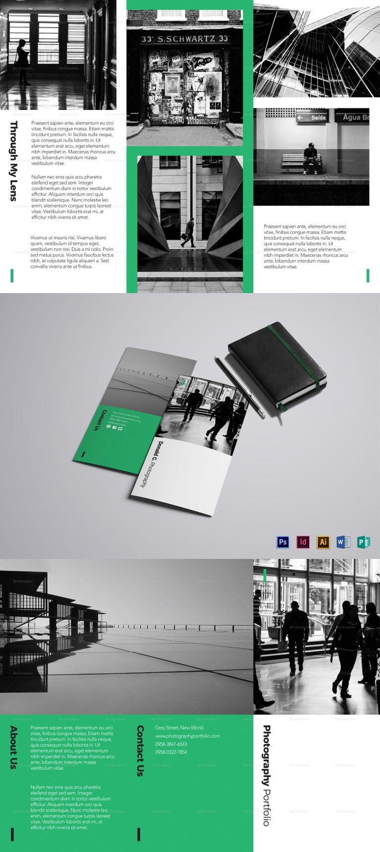 Photography Portfolio Brochure Template - Formats Included ...