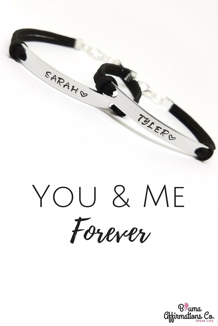 Personalized Couples Bracelets | Couples Name Bracelet | Matching ...