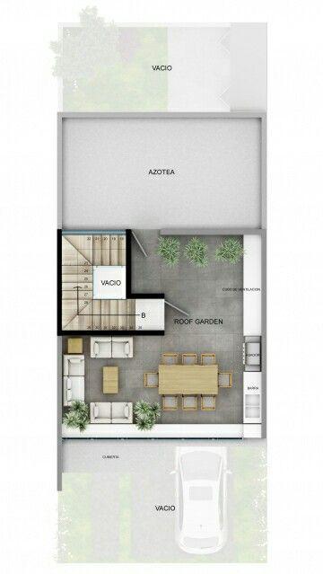 Pinterest @claudiagabg Townhouse 3 pisos 3 cuartos 1 sala de tv 1