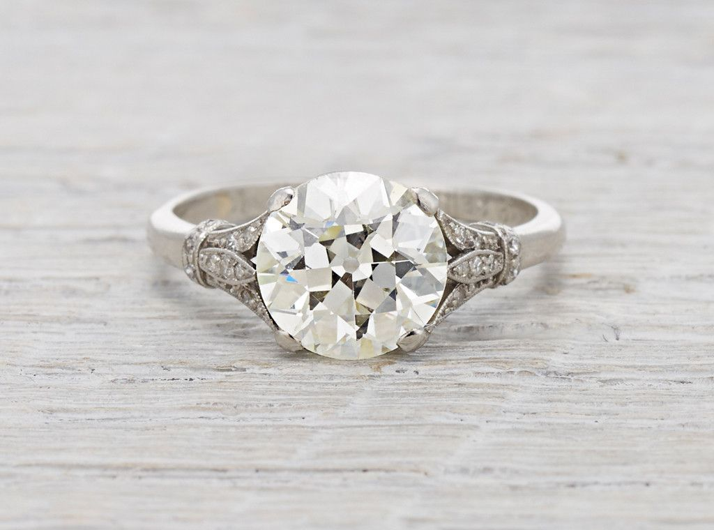 Best Art Deco diamond engagement ring with contemporary diamond eternity bands all in platinum From Doy u Pinteres u