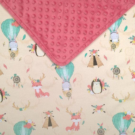 toddler bedding coral minky blanket tribal baby girl blanket girl rh pinterest com
