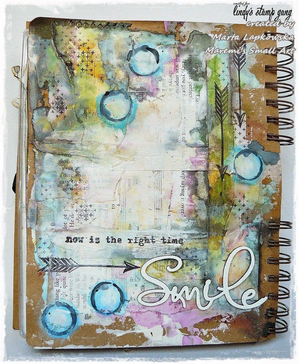 Art Journal Page Tutorial By Marta Lapkowska #artjournalmixedmediainspiration