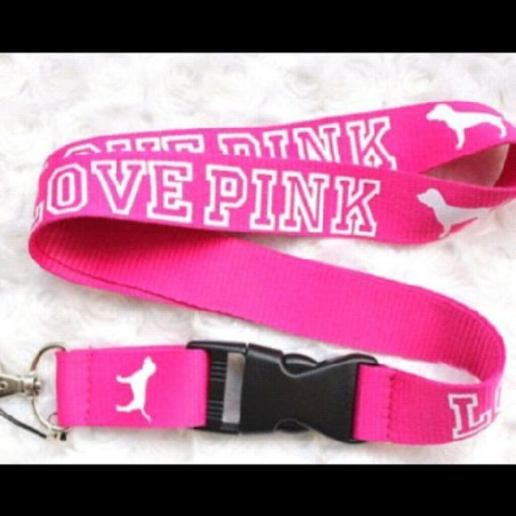 Love pink lanyard Brand new love pink lanyard. PINK Victoria's Secret Other