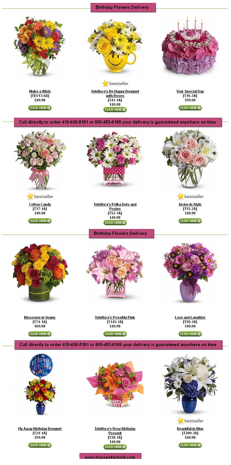 Same day delivery available birthday by house of arnold florist flower same day delivery available birthday izmirmasajfo