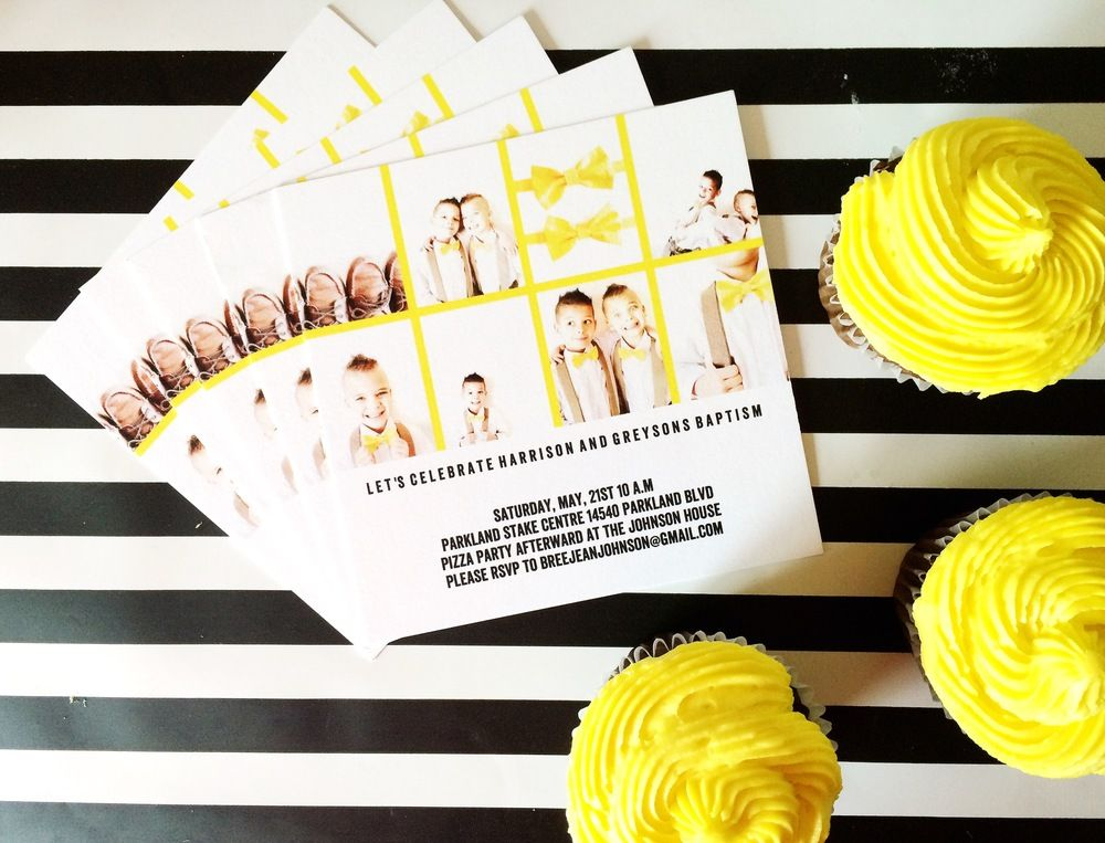 Boys lds baptism invitation ideas in collaboration with @tiny_prints