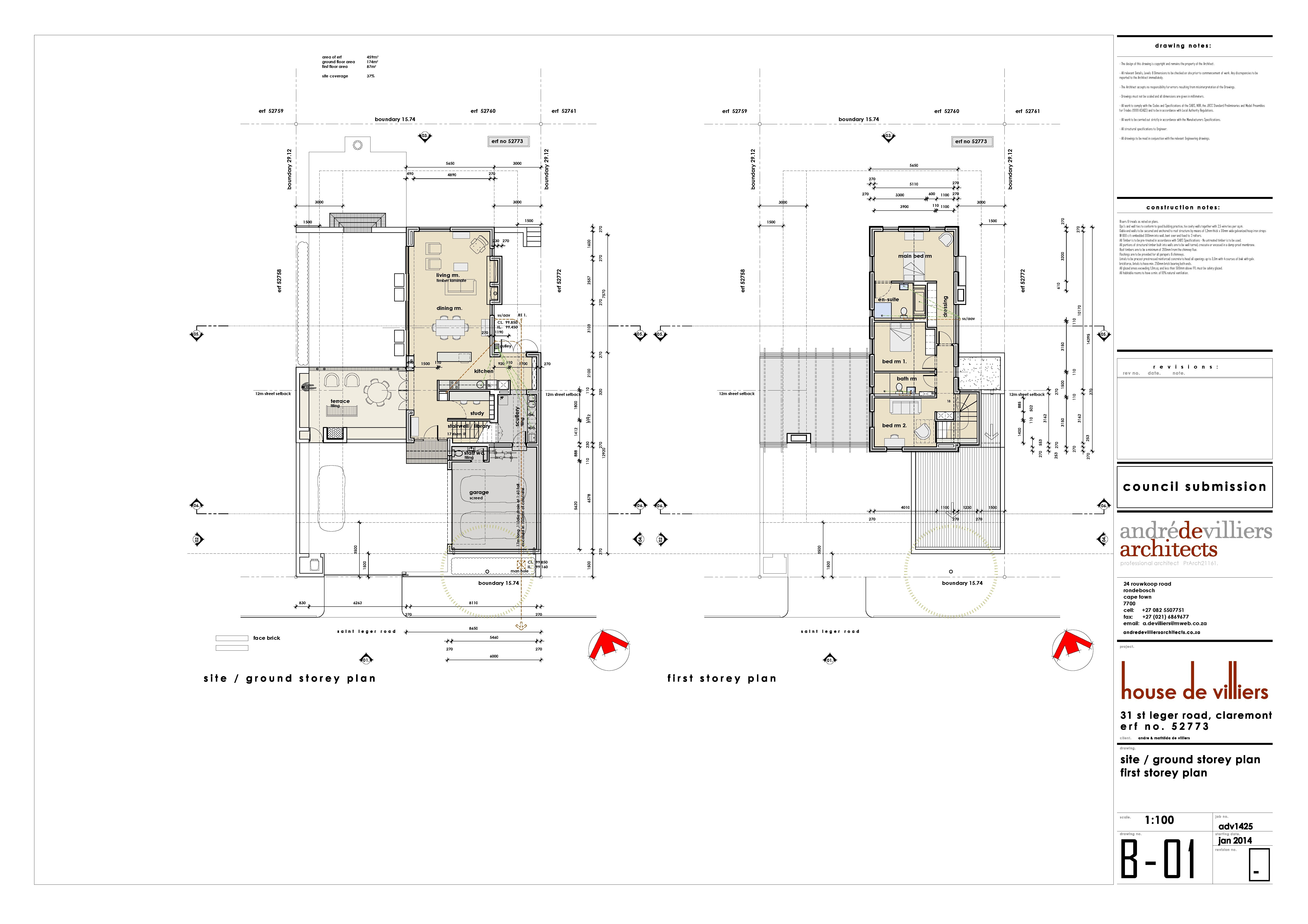 Sketch plans of our new house claremont cape town andre de sketch plans of our new house claremont cape town andre de villiers architects malvernweather Images