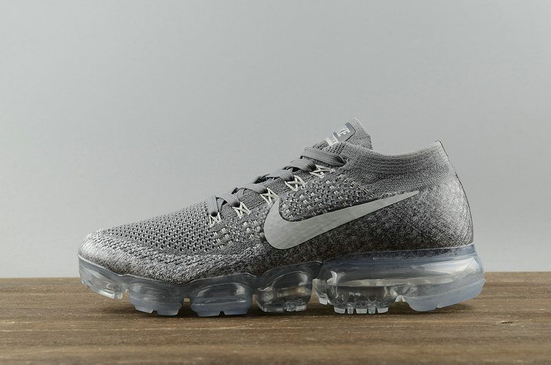 439aabfc7 Genuine Nike Air Vapormax Flyknit Asphalt Grey 849558 002 Youth Big Boys  Shoes  Branmakeyou