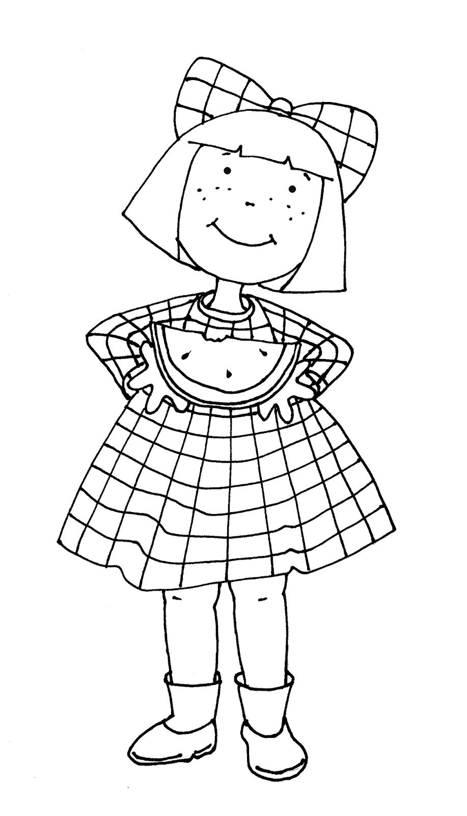 Free Dearie Dolls Digi Stamps: Watermelon Girl