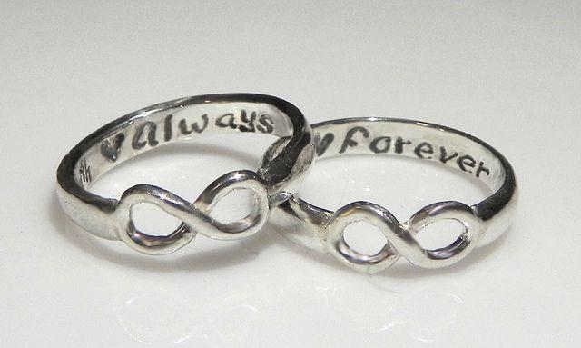 Infinity Rings Infinity Ring Wedding Mother Daughter Rings