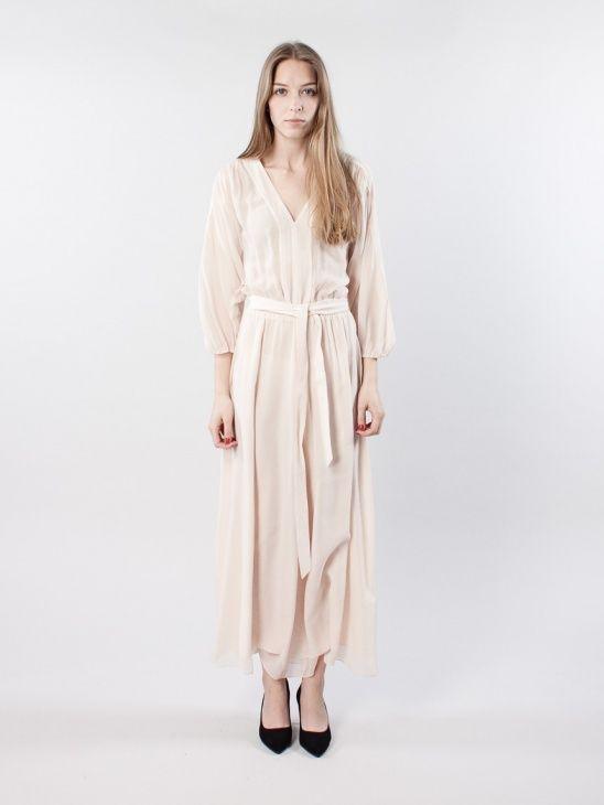 silk chiffon belt dress filippa k