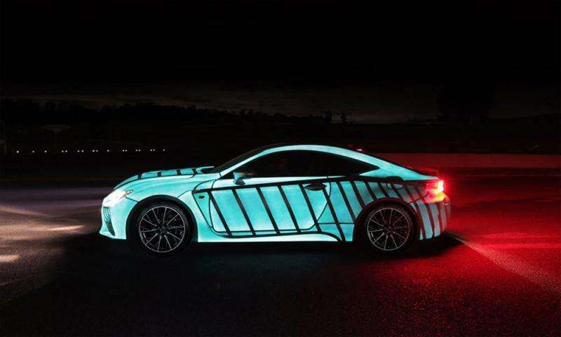 Lexus uses LumiLor coating to show driver's heartbeat on car