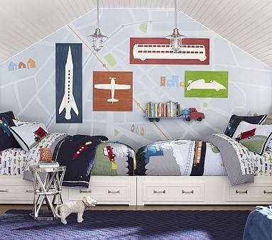 Belden Set of 2 Twin Beds, Corner Unit & End Of Bed Dressers ...