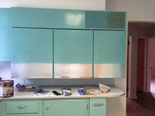 Vintage GE Wall mount refrigerator kitchen metal cabinets ...