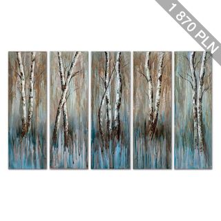 Birch Family Canvas Wall Art 5-piece Set ()