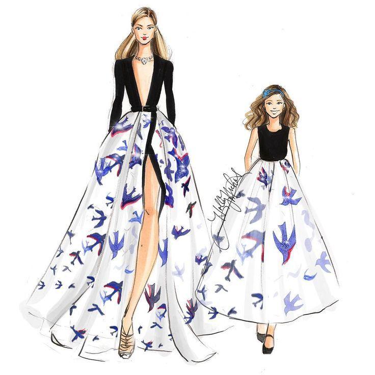 Resultado de imagen de figurines de moda de diseñadores famosos