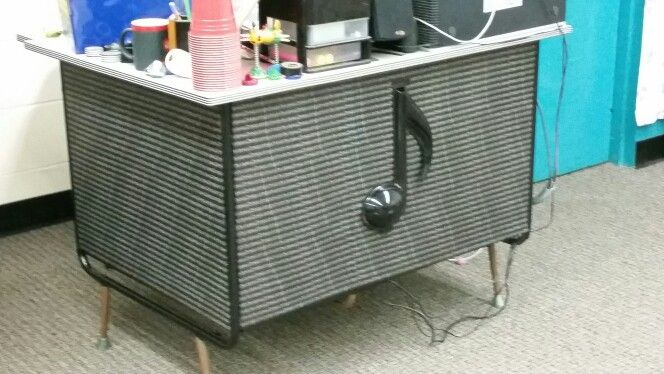 Music Room desk using Washi tape